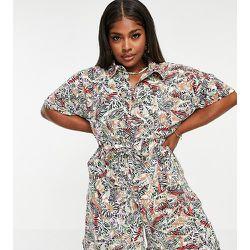Combishort style chemise à imprimé tropical - Noisy May Curve - Modalova