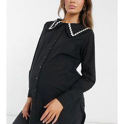 Pieces - Maternité - Chemise longue à col oversize - Pieces Maternity - Modalova