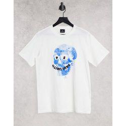 T-shirt avec motif tête de mort fleurie - PS Paul Smith - Modalova