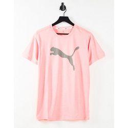 T-shirt à logo chat gris - Pêche - Puma - Modalova