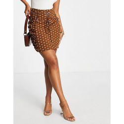 London - Mini-jupe d'ensemble à lacets - à pois - rare - Modalova