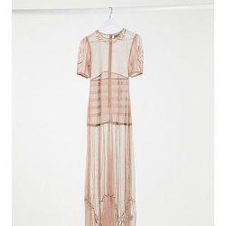 Inspired - Couture - Robe longue transparente à ornements - Reclaimed Vintage - Modalova