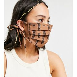 Inspired - Masque en tissu à imprimé monogramme - Reclaimed Vintage - Modalova