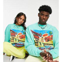 Inspired - Sweat-shirt unisexe décontracté à imprimé Tulum - Turquoise - Reclaimed Vintage - Modalova