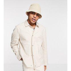 Inspired - Veste-chemise à carreaux vichy - Beige - Reclaimed Vintage - Modalova