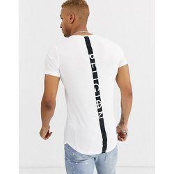 T-shirt à ourlet arrondi avec bande contrastante dans le dos - Religion - Modalova