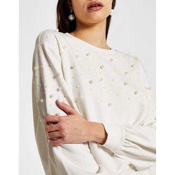 Sweat-shirt d'ensemble orné de perles - River Island - Modalova