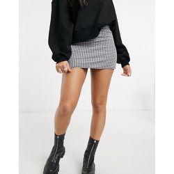 Mini-jupe d'ensemble en maille à carreaux motif pied-de-poule - Rokoko - Modalova
