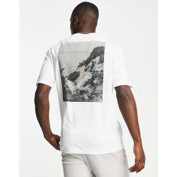 T-shirt coupe ample en coton biologique avec imprimé photo au dos - Selected Homme - Modalova