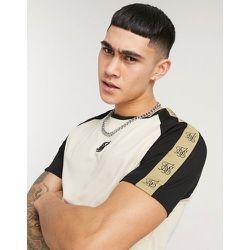 T-shirt moulant de qualité supérieure à manches raglan et motif color block - SikSilk - Modalova