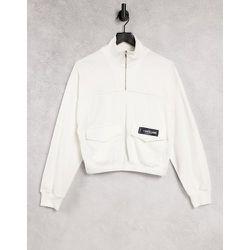 Sweat-shirt court à col cheminée et poches cargo - Sixth June - Modalova