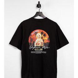 T-shirt oversize avec imprimé coucher de soleil au dos - - Exclusivité ASOS - Sixth June - Modalova