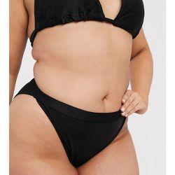 - Mix and Match - Bas de bikini côtelé à taille haute, en exclusivité - South Beach Curve - Modalova