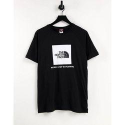 T-shirt à manches raglan avec logo carré rouge - The North Face - Modalova