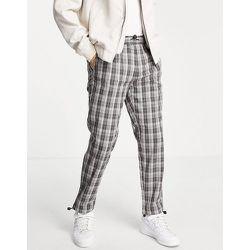 Pantalon à carreaux décontracté avec cordon élastique - Bleu - Topman - Modalova