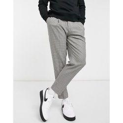 - Pantalon ajusté à carreaux - Noir et blanc - Topman - Modalova