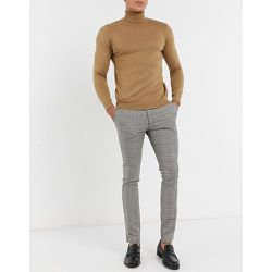 Pantalon élégant à carreaux - Bleu - Topman - Modalova