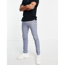 Pantalon skinny à carreaux - Bleu clair et bleu - Topman - Modalova