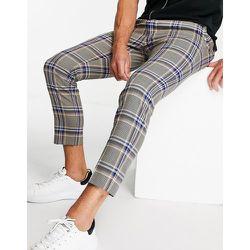Pantalon skinny style jogger à carreaux - Taupe et - Topman - Modalova