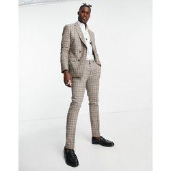 Pantalon slim à carreaux - Topman - Modalova