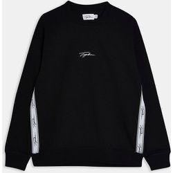 Sweat-shirt confort à bandes avec logo emblématique - Topman - Modalova