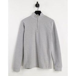 Sweat-shirt en sergé à fermeture éclair 1/4 - Topman - Modalova
