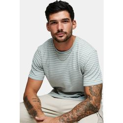 T-shirt à rayures - Sauge et blanc - Topman - Modalova