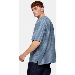 T-shirt brossé à rayures - Topman - Modalova