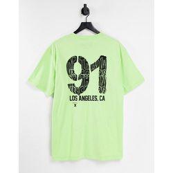 T-shirt oversize à imprimé Death Row91 sur le devant et au dos - Topman - Modalova