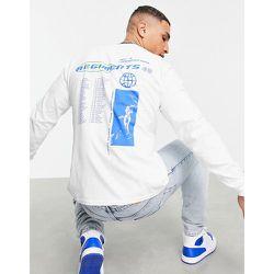 T-shirt oversize à manches longues avec imprimé Regiments sur le devant et au dos - Topman - Modalova