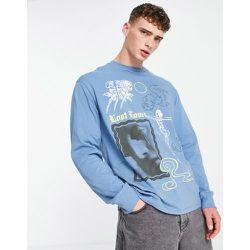 T-shirt oversize avec imprimé Lost Love - Topman - Modalova
