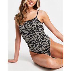 Body sans coutures à imprimé zèbre - Topshop - Modalova