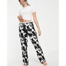 Ensemble pyjama à imprimé vache - Noir et blanc - Topshop - Modalova