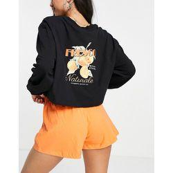 Fresco - Pyjama en jersey avec top manches longues et short - Topshop - Modalova