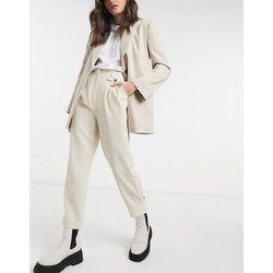 Pantalon en sergé - Crème - Topshop - Modalova