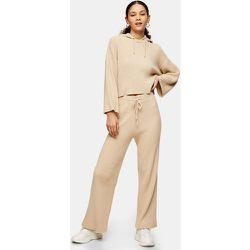 Pantalon large côtelé doux - Beige - Topshop - Modalova