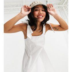 Petite - Robe chasuble courte en popeline avec nœuds - Topshop - Modalova