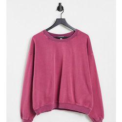Petite - Sweat-shirt délavé à l'acide - Topshop - Modalova