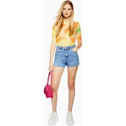 Premium - Short mom en jean - moyen - Topshop - Modalova
