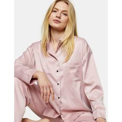 Pyjama en satin - Rose poudré - Topshop - Modalova