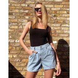 - Short à enfiler en jean délavé - Topshop - Modalova