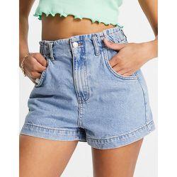 Short en jean à taille haute froncée - moyen - Topshop - Modalova