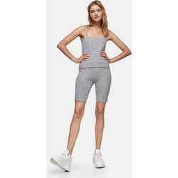 Short legging - Gris chiné - Topshop - Modalova