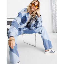 Spiral - Veste en jean d'ensemble à empiècements - moyen - Topshop - Modalova