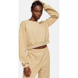 Sweat-shirt court - Camel - Topshop - Modalova