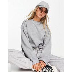 Sweat-shirt oversize - chiné - Topshop - Modalova