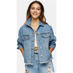 Toshop Petite - Veste en jean oversize - moyen - Topshop - Modalova