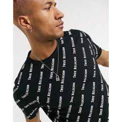T-shirt avec imprimé griffé sur l'ensemble - True Religion - Modalova