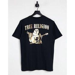 T-shirt ras de cou à grand motif bouddha - Doré - True Religion - Modalova