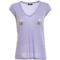 T-Shirt - Violet - Elisabetta Franchi - Modalova